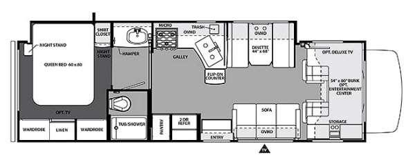 Floorplan - 2015 Forest River RV Forester 3051S Ford