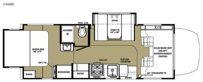 Floorplan - 2015 Forest River RV Sunseeker MBS 2400R