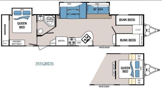Floorplan - 2015 Dutchmen RV Dutchmen 355QBDS