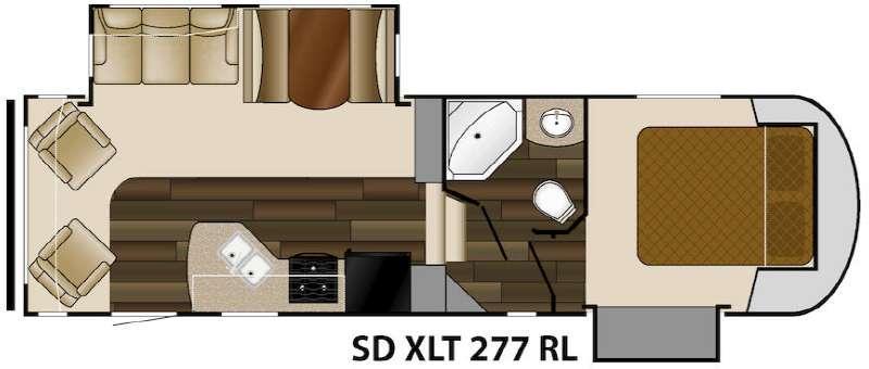 Floorplan - 2015 Sundance XLT 277RL Fifth Wheel