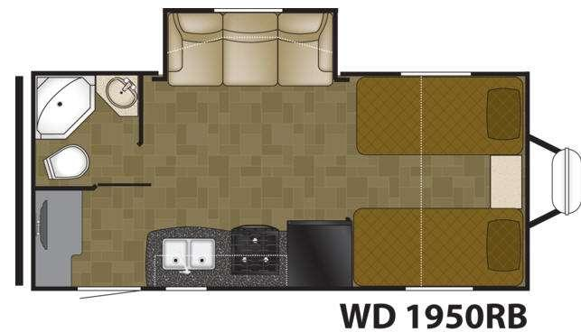 Floorplan - 2015 Heartland Wilderness 1950RB