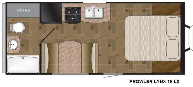 Floorplan - 2015 Heartland Prowler Lynx 18 LX Lynx