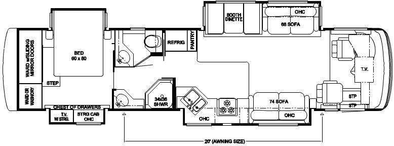Floorplan - 2007 Newmar Ventana 3936