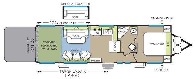 Floorplan - 2015 Forest River RV Stealth WA2715