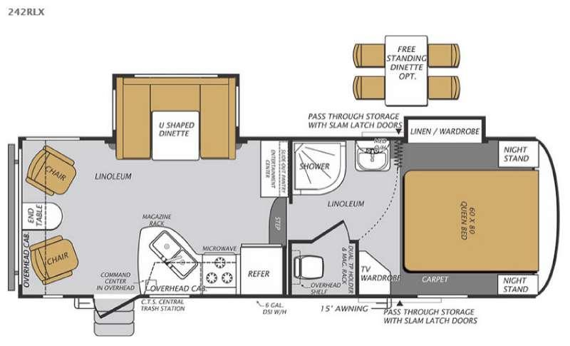 Floorplan - 2015 Forest River RV Wildcat Maxx 242RLX
