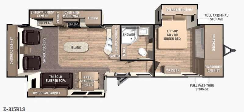Floorplan - 2015 Cruiser Enterra E-315RLS
