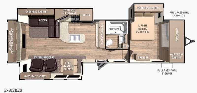 Floorplan - 2015 Cruiser Enterra E-317RES