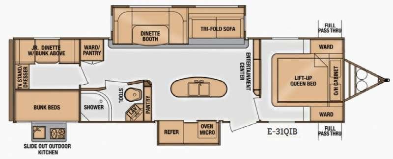 Floorplan - 2015 Cruiser Enterra E-31QIB