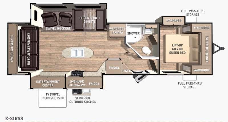 Floorplan - 2015 Cruiser Enterra E-31RSS