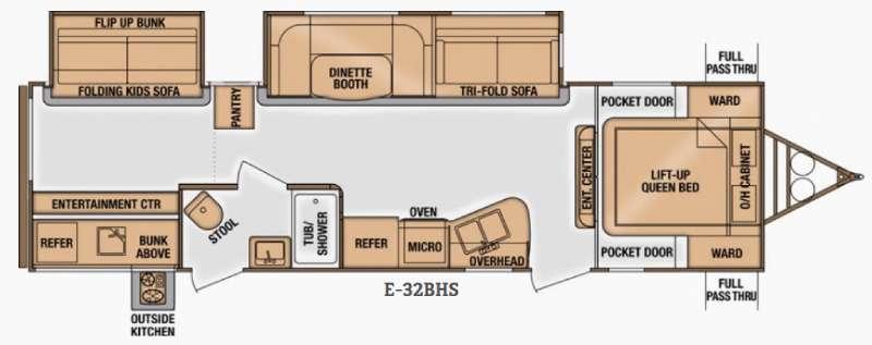 Floorplan - 2015 Cruiser Enterra E-32BHS