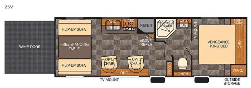 Floorplan - 2015 Forest River RV Vengeance Super Sport 25V