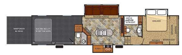 Floorplan - 2015 Forest River RV Vengeance Touring Edition 39B12