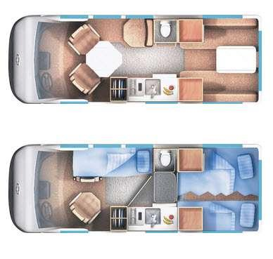Floorplan - 2015 Roadtrek 190-Popular
