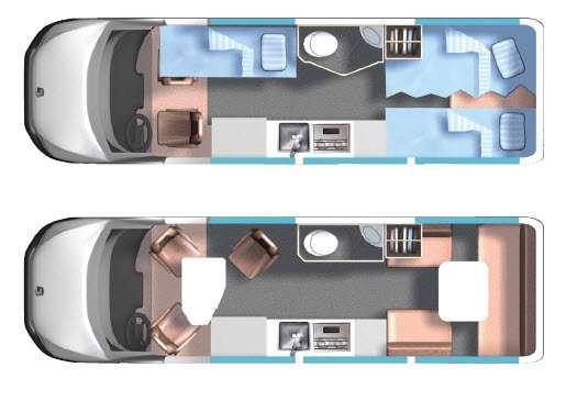 Floorplan - 2015 Roadtrek CS-Adventurous