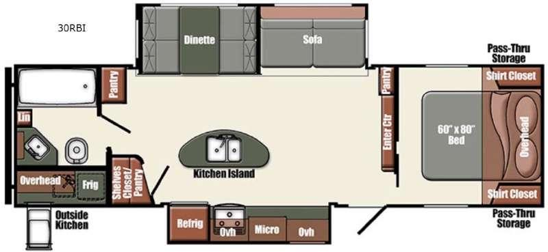 Floorplan - 2015 Gulf Stream RV Gulf Breeze Champagne Series 30RBI