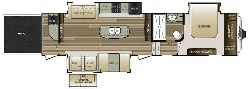 Floorplan - 2015 Keystone RV Cougar 338PATWE