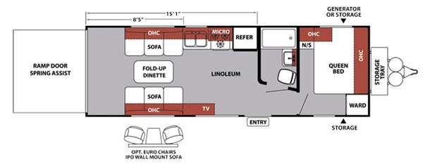 Floorplan - 2015 Forest River RV XLR Nitro 24FQSL