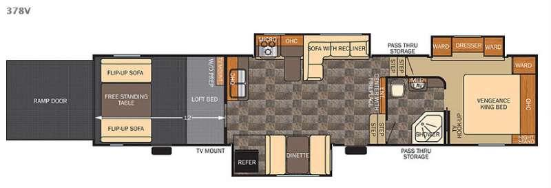 Floorplan - 2015 Forest River RV Vengeance 378V