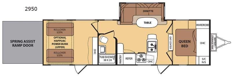 Floorplan - 2015 Dutchmen RV Razorback 2950