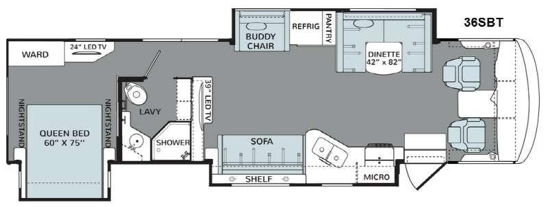 Floorplan - 2015 Holiday Rambler Vacationer 36SBT