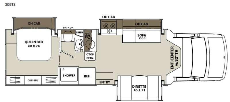 Floorplan - 2015 Coachmen RV Concord 300TS Chevy