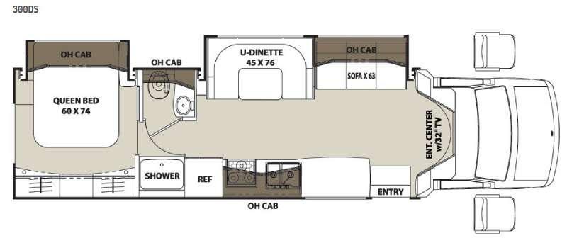 Floorplan - 2015 Coachmen RV Concord 300DS Ford