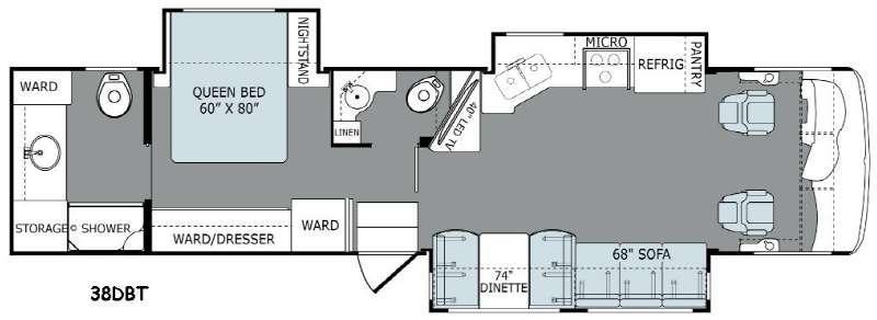 Floorplan - 2015 Holiday Rambler Ambassador 38DBT