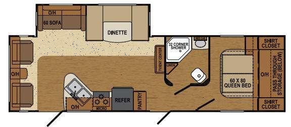 Floorplan - 2015 Augusta RV Flex AT 29RL
