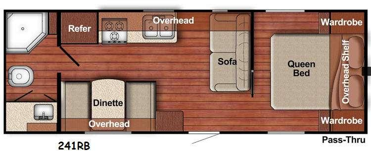 Floorplan - 2015 Gulf Stream RV Ameri-Lite 241RB
