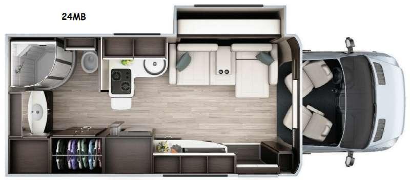 Floorplan - 2015 Leisure Travel Unity U24MB