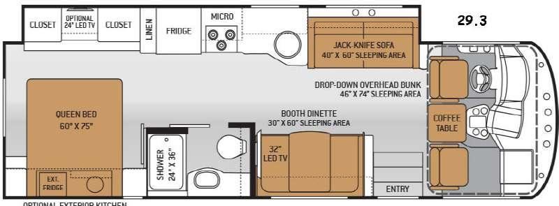 Floorplan - 2015 Thor Motor Coach ACE 29.3