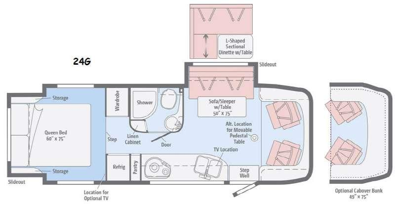 Floorplan - 2015 Winnebago View 24G