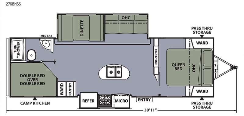 Floorplan - 2015 Coachmen RV Apex Ultra-Lite 276BHSS