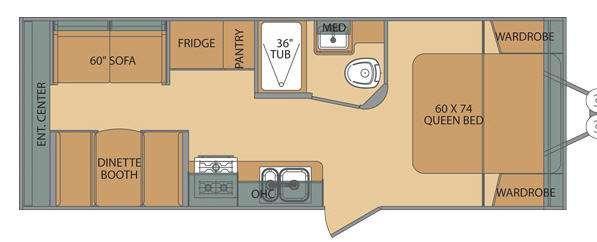 Floorplan - 2014 Shasta RVs Flyte 215CK