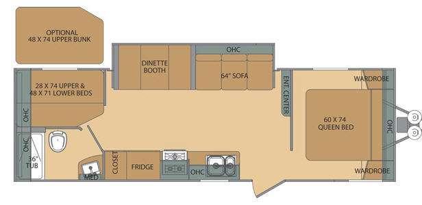 Floorplan - 2014 Shasta RVs Flyte 265DB