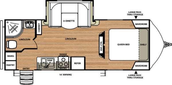 Vibe Extreme Lite 221RBS Floorplan Image