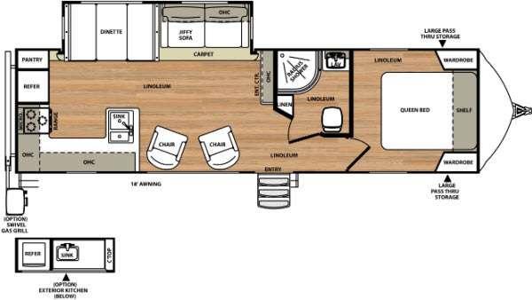 Vibe Extreme Lite 268RKS Floorplan Image
