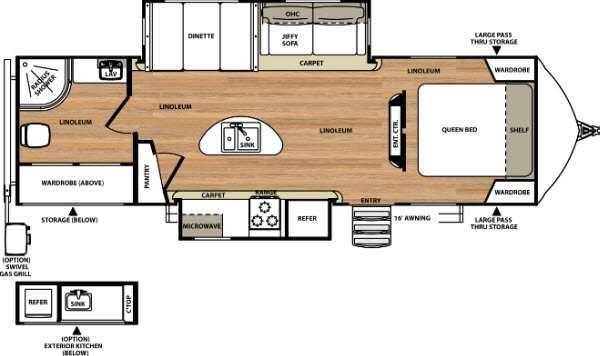Floorplan - 2015 Forest River RV Vibe Extreme Lite 279RBS