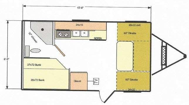Floorplan - 2015 Riverside RV White Water Retro Bunkhouse