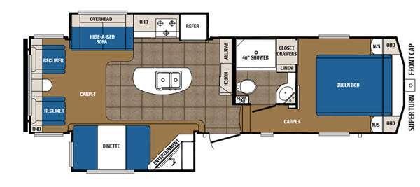 Crusader 28RL Floorplan Image
