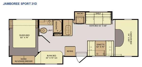 Tioga Ranger 31D Floorplan Image