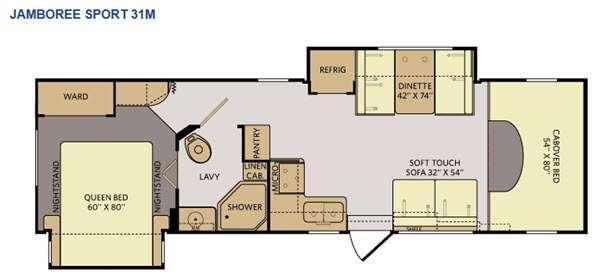 Tioga Ranger 31M Floorplan Image