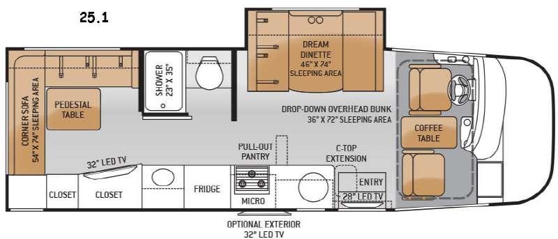 Floorplan - 2015 Thor Motor Coach Vegas 25.1