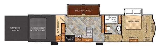 Floorplan - 2015 Forest River RV Vengeance Touring Edition 36A11