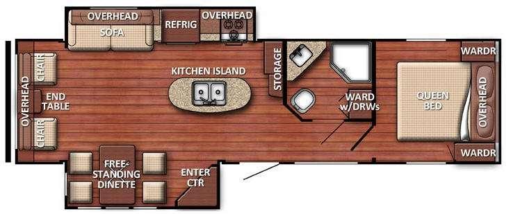 Floorplan - 2015 Gulf Stream RV Conquest 288ISL