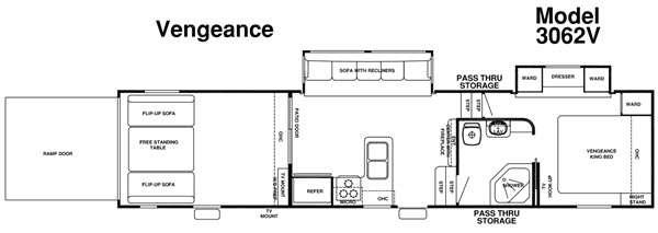 Floorplan - 2015 Forest River RV Vengeance 3062V