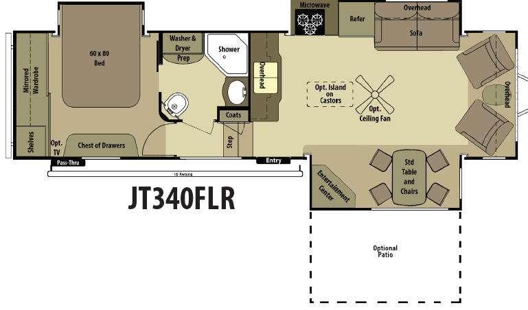 Floorplan - 2015 Open Range RV Journeyer JT340FLR