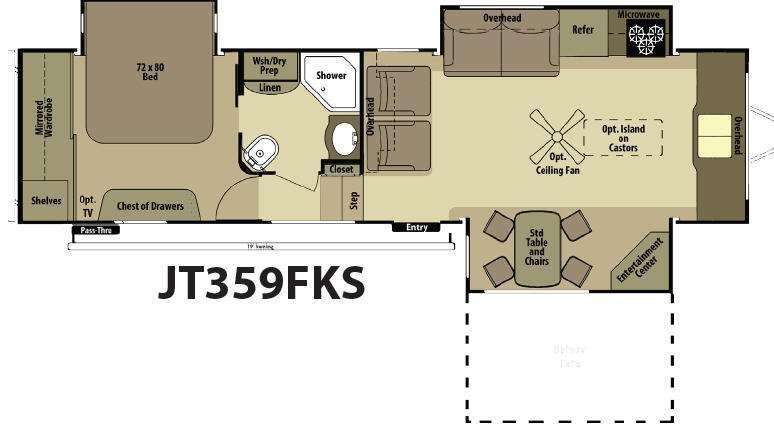 Floorplan - 2015 Open Range RV Journeyer JT359FKS