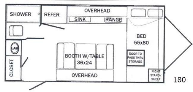 Floorplan - 2015 Riverside RV White Water 180 Retro