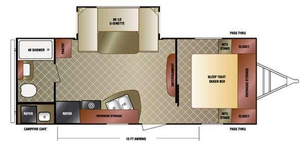 Floorplan - 2015 Venture RV SportTrek 235VRB